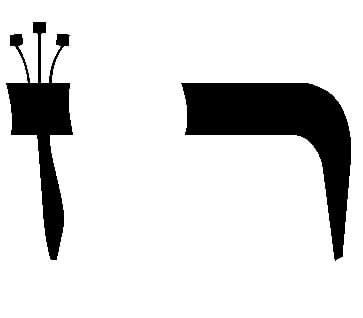 Seguem as letras Hebraicas que regem Sivan